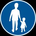 Är detta en skylt för farliga trafikanter?  Bild: Transportstyrelsen.